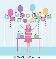 people birthday celebration