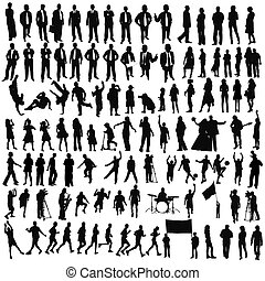 isolated silhouettes on the white background ,all made from my photos