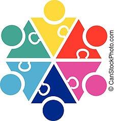 People business teamwork logo