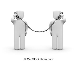 People call each other. People talking on the phone