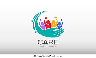 People Care Vector Illustration