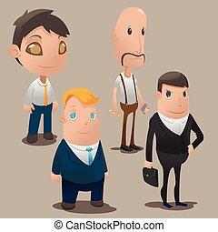 People Cartoon Worker Design Set Vector