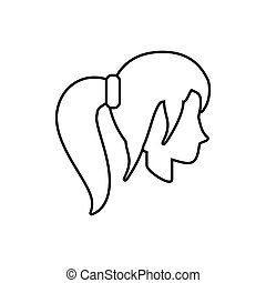 people casual woman icon image