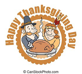 People Celebrating Thanksgiving Day