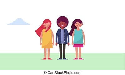 people character avatar - people group man and women in the...