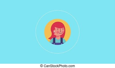 people character community - smiling woman portrait...