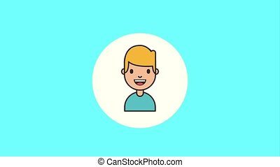 people character net work - happy young boy character...