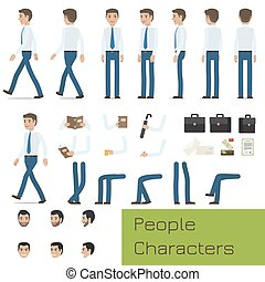 People Characters Create Your Businessman Set