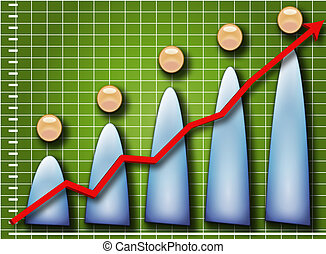 People chart up - Upwards chrt with people