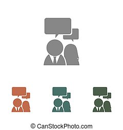 people chat icon isolated on white background