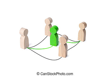People choose best intermediary for cooperation. Contractor ...
