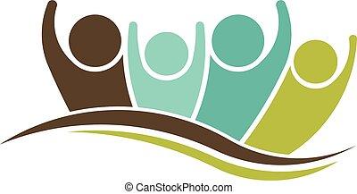 People Christmas logo. Season greetings