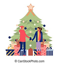 people christmas tree decoration