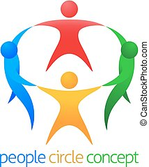 People Circle Team Concept