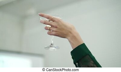 People clinking glasses at the party