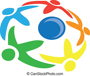 People around the world symbol vector