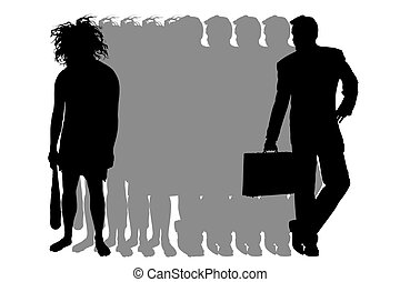 People - Illustration of a mutation of the person from...