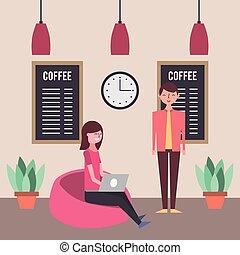 people coffee shop