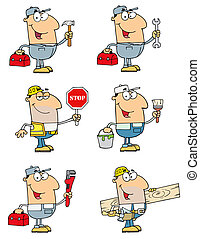 People Collection 1 - People Of Different Professions-Vector...