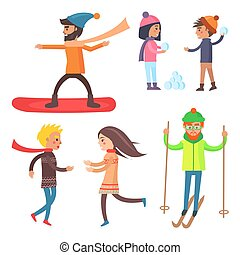 People Collection of Icons Vector Illustration