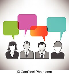 People Communicating via Social Med