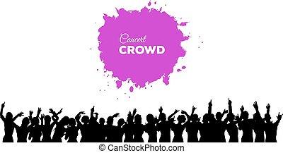 People concert crowd