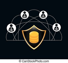 people connections lock network icon
