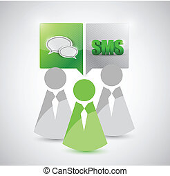 people contact communication illustration