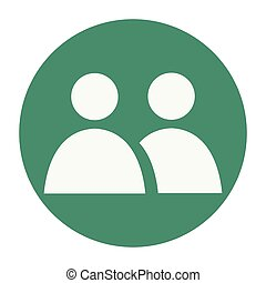 People contacts symbol