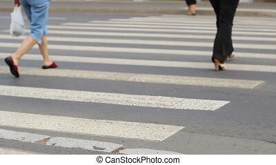 People Crossing the Street