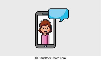 people customer service - customer service smartphone...