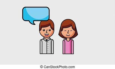 people customer service - portrait people talking speech...