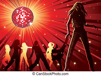 People dancing in night-club
