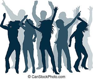People dancing - Silhouettes of people dancing