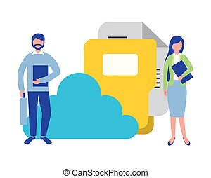 people data cloud computing folder file