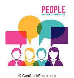 People design over white background, vector illustration.
