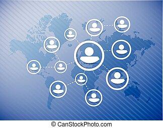people diagram network illustration