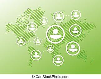 people diagram network illustration design