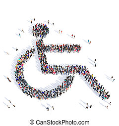 people disabled person medicine 3d