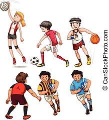 People doing different sports