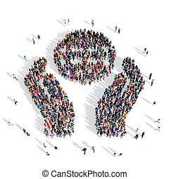 people Earth 3d