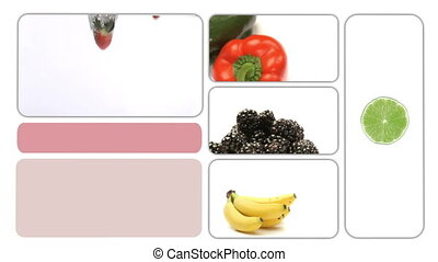 People eating healthy food - Animation of people eating...