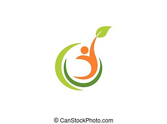 people ecology health life vector logo