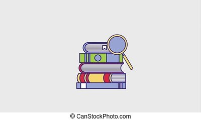 people education graduation online - education stacked books...