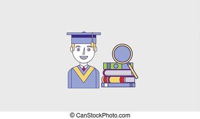 people education graduation online - graduate man stacked...