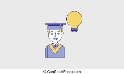 people education graduation online - portrait graduate man...