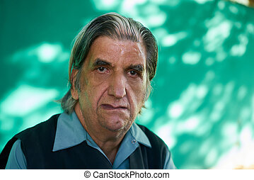 People Emotions Sad Worried Depressed Hispanic Man From Cuba