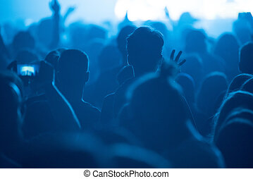 People enjoying a concert