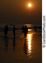 People enjoying Sunset