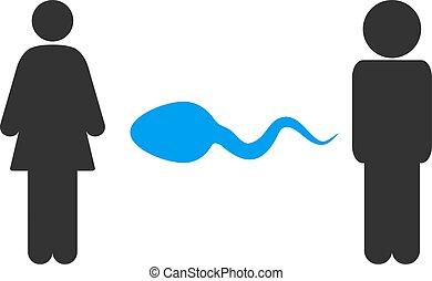 People Exchange Sperm Vector Icon - People exchange sperm...